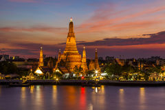 Wat Arun Temple at sunset. Bangkok. Royalty Free Stock Image
