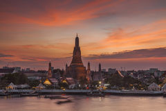 Wat Arun Temple at sunset. Bangkok. Royalty Free Stock Photography