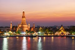 Wat Arun Temple in Bangkok, Thailand stock photography