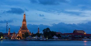 Wat Arun Temple in twilight. Royalty Free Stock Photography
