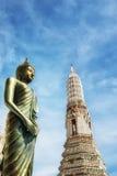 Wat Arun Temple von Dämmerung - Bangkok, Thailand Stockfotografie