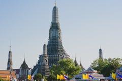 Wat Arun - templet av gryning, Bangkok Arkivfoton