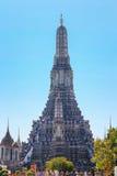 Wat Arun - templet av gryning i bangkok, Thailand Arkivfoto