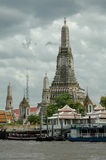 Wat Arun, Thailand. Wat Arun is a Buddhist temple (wat) in the Bangkok Yai district of Bangkok, Thailand, on the Thonburi west bank of the Chao Phraya River. The Royalty Free Stock Image