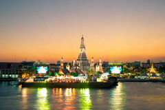 Wat arun under new year celebration time, Thailand Royalty Free Stock Photo