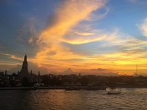 Wat Arun. View of Wat Arun in Bangkok Royalty Free Stock Photography