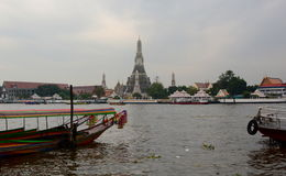 Wat Arun, viewed from Chao Phraya River. Bangkok. Thailand Royalty Free Stock Photography