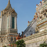 Wat Arun w Bangkok - świątynia świt Obraz Stock