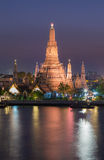 Wat Arun waterfront during Twilight Stock Images
