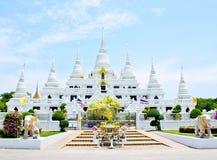 Wat Asokaram Samut Prakan, Thailand Royaltyfria Bilder
