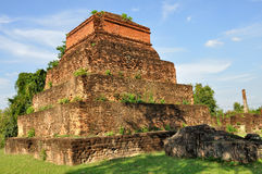 Ruined Tower at Wat Asokaram Stock Images