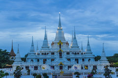 Wat asokaram Temple in Samut Prakan Thailand. Popular Attractions in Thailand. It is a pagoda. It is a 13th Pagoda, a symbol of the Thirteen Thirteen, containing stock image