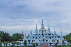 Wat asokaram Temple in Samut Prakan Thailand. Popular Attractions in Thailand. It is a pagoda. It is a 13th Pagoda, a symbol of the Thirteen Thirteen, containing royalty free stock images