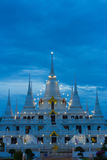 Wat asokaram Temple in Samut Prakan Thailand. Popular Attractions in Thailand. It is a pagoda. It is a 13th Pagoda, a symbol of the Thirteen Thirteen, containing stock photos