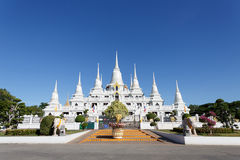 Wat asokaram Temple in Samut Prakan Thailand. Royalty Free Stock Photography
