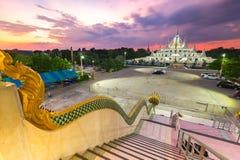 Wat asokaram temple in Samutprakarn Province, Thailand along twi Stock Images
