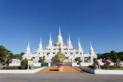 Wat asokaramtempel i Samut Prakan Thailand Royaltyfri Fotografi
