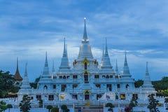 Wat asokaramtempel i Samut Prakan Thailand Fotografering för Bildbyråer
