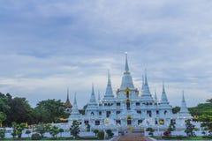 Wat asokaramtempel i Samut Prakan Thailand Royaltyfria Bilder