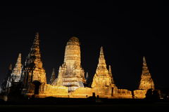 Wat in ayutthaya Royalty Free Stock Photos