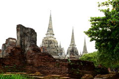 Wat, Ayutthaya, Tailandia Imagenes de archivo