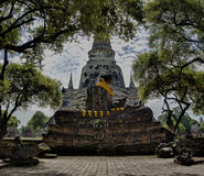 Wat a Ayutthaya Tailandia Asia immagine stock libera da diritti
