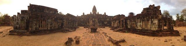 Wat Bakong Siem Reap Kambodja Oude Angkor Stock Foto's