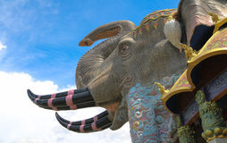 Wat Ban Rai Elephant Temple Royalty-vrije Stock Afbeelding