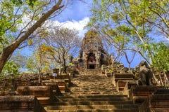 Wat Banan near Battambang, Cambodia. Remains of the Wat Banan Buddhist temple near Battambang, Cambodia stock photos