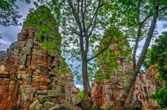 Wat Banan temple, Battambang. Pagoda of the Wat Banan old Khmer civilization temple, Cambodia stock photos