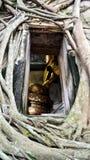 Wat Bang Kung at Bang Kung Sub-district in Bang Khontee District of Samut Songkhram, Thailand. Old buddha statue in ubosot of Wat Bang Kung for people travel and Royalty Free Stock Image