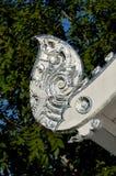 Wat Bargeboad de plata y blanco Foto de archivo