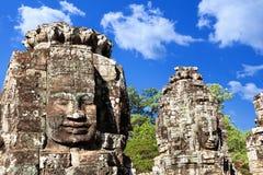 Wat Bayon temple face in Angkor, Cambodia Stock Photos