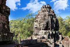 Wat Bayon temple face in Angkor, Cambodia Royalty Free Stock Photo