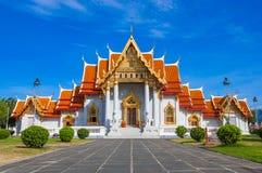Wat Benchamabophit或大理石寺庙 免版税库存图片