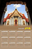 Wat Benchamabophit,曼谷,泰国 免版税库存照片