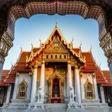 Wat Benchamabophit ο μαρμάρινος ναός Στοκ εικόνες με δικαίωμα ελεύθερης χρήσης