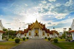 Wat Benchamabophit in Bangkok Stock Afbeelding