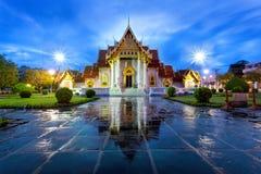 Wat Benchamabophit in Bangkok Royalty-vrije Stock Foto's