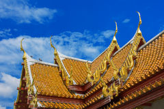 Wat Benchamabophit Bangkok temple. Thailand lunch Royalty Free Stock Photos