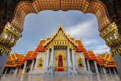 Wat Benchamabophit in Bangkok, Thailand Stock Photography
