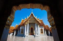Wat Benchamabophit Dusitvanaram - мраморный висок, Бангкок Таиланд стоковое изображение rf
