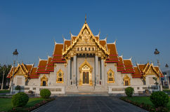 Wat Benchamabophit Dusitvanaram is a Buddhist temple (wat) in the Dusit district of Bangkok, Thailand. Also known as the marble temple, it is one of Bangkok's royalty free stock photos