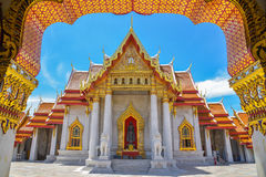 Wat Benchamabophit Dusitvanaram is een Boeddhistische tempel Stock Foto