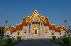 Wat Benchamabophit Dusitvanaram is een Boeddhistische tempel (wat) in het district Dusit van Bangkok, Thailand Royalty-vrije Stock Foto's