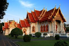 Wat Benchamabophit Dusitvanaram (The Marble Temple). Side of the Buddhist temple (wat) in the Dusit district of Bangkok, Thailand Royalty Free Stock Photos