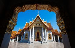 Wat Benchamabophit Dusitvanaram - Marmurowa świątynia, Bangkok Tajlandia obraz royalty free