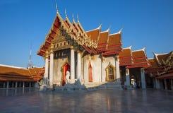 Wat Benchamabophit Dusitvanaram - Marmurowa świątynia, Bangkok Tajlandia zdjęcie stock