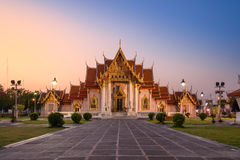 Wat Benchamabophit Dusitvanaram Temple in Bangkok, Thailand Stock Image
