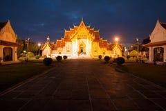 Wat Benchamabophit Dusitvanaram  in twilight time, Bangkok, Thailand Royalty Free Stock Photography